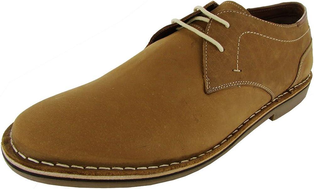 Steve Madden Mens Hasten1 Leather Oxford Shoe, Tan, US
