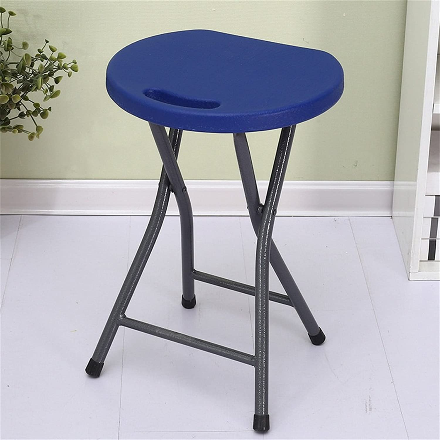 PVC Material Folding Stool 150 Kg Negative Weight Comfortable Portable Dark bluee 45  33  33cm