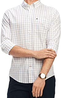 Men's Classic Fit Check Print Button-Front Shirt