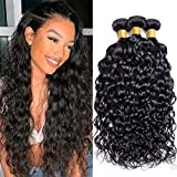 9A Brazilian Water Wave Bundles (16 18 20 Inch) Wet and Wavy Human Hair Bundles 100% Virgin Remy Curly Weave Hair Human Bundles