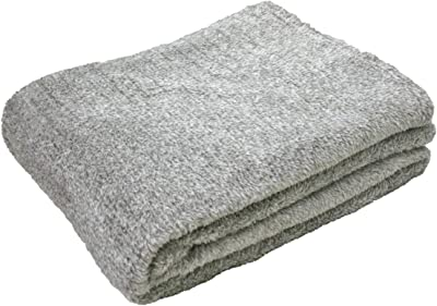 毛布 シングル 暖か 吸湿発熱 洗える 140×200cm 21-QH-1420 (グレー)