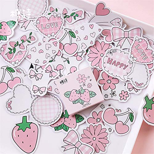 45pcs/pack Kawaii Stationery Stickers cute Strawberry pattern scrapbooking Posted It journal planner School Supplies