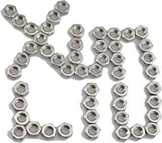 M8 x 1.25 Coarse Thread DIN 934 Finished Hex Nut Stainless Steel 316 Pk 50