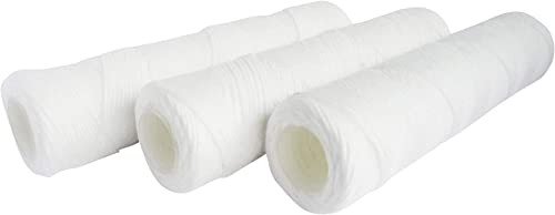 AQUAWATER - 105006 - Lot de 3 cartouches filtrantes anti-sédiments bobinée 20 microns - Pour bol de taille standard 1...