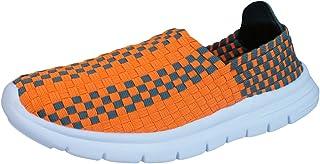 Air Tech Pessoa Womens Slip On Woven Trainers/Shoes - Orange