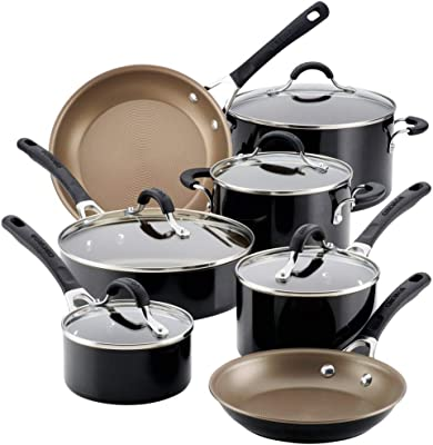 Circulon Innovatum Aluminum Nonstick Cookware Set (12-Piece, Black)