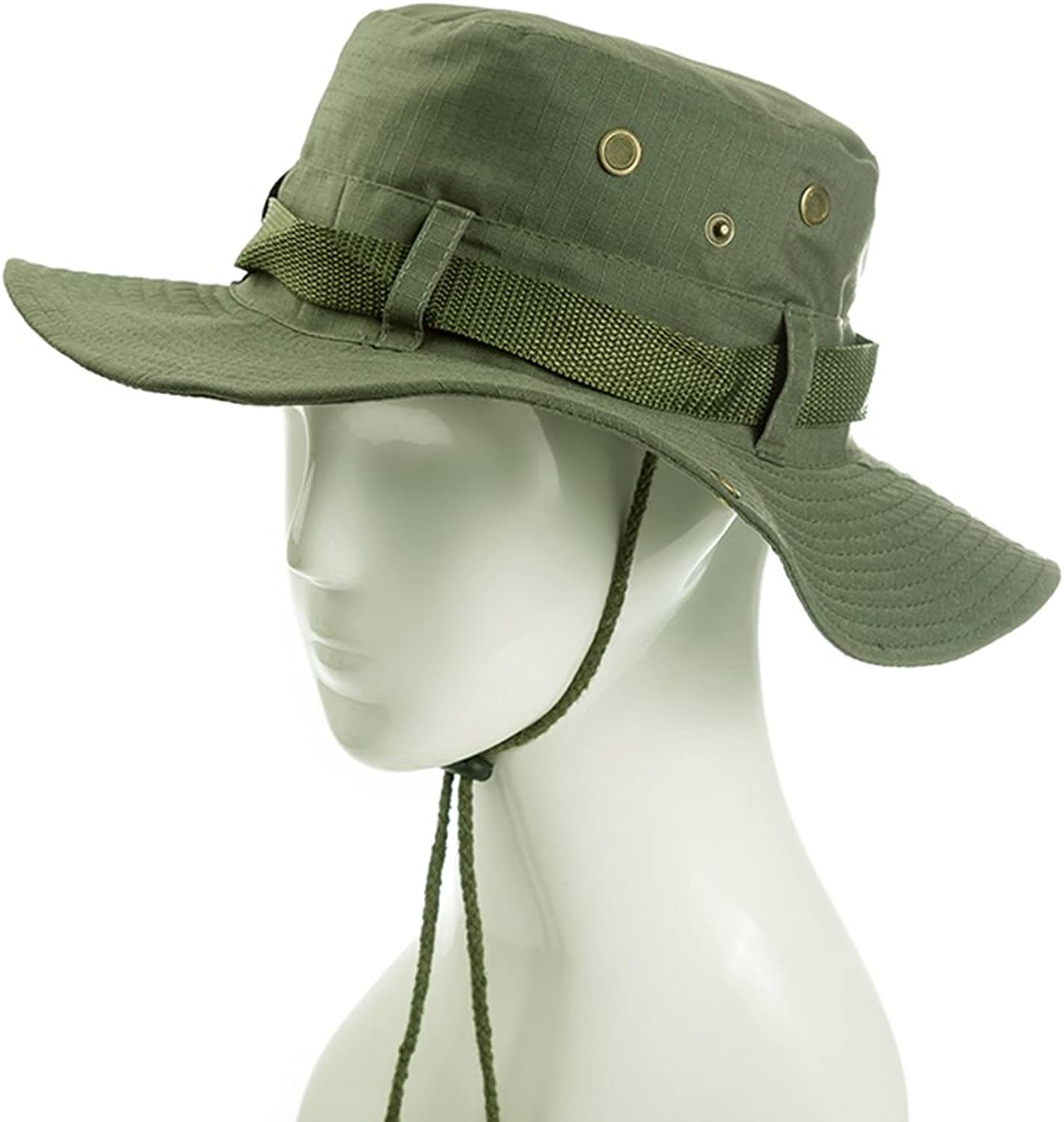 BP Hats Summer Hat, Sun Hat Men Cap Eaves Foldable Anti-UV Wide Brim Wind Rope Breathability Outdoor, 4 colors Optional% (color   Army Green)