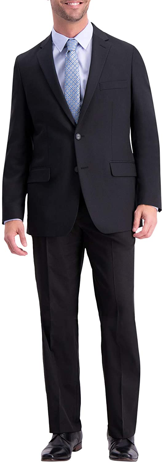 Haggar Men's Fresno Mall Active Series Solid San Diego Mall Blazer Tailored Fit Gab