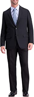 Haggar Men`s Active Series Solid Gab Tailored Fit Blazer