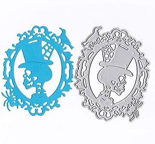 UJUNAOR Troqueles de Corte, Empaquetado de Tarjetas Romance Regalo para Novia Tarjetas DIY Hechas a Mano cupones Troquel de Metal con Hilo de Coser Tarjeta de Papel de Troqueles