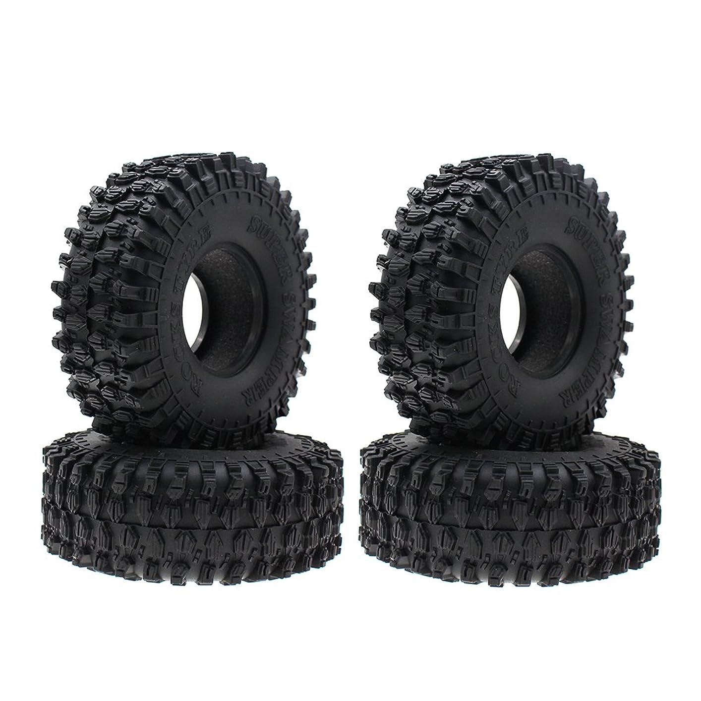 偽善者保存遅らせる4PCS Super Larger 4.7 Inch Outer Diameter RC Crawler Tires,1.9 Inch Tires for Axial SCX10 90047 SCX10 III AX103007 RC4WD D90 D110 TF2 Tamiya CC01 Traxxas TRX-4