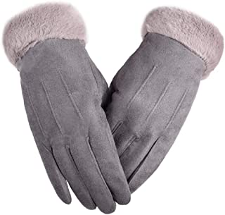 TIKIYOGI Womens Winter Warm Touch Screen Thick Gloves Windproof Texting Driving Lined Gloves