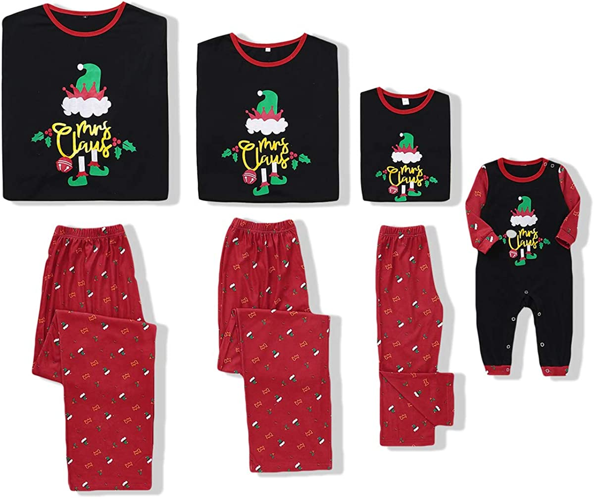 Family Christmas Matching Pajamas Set Paint Nightwear Xmas for Women Men Kid Baby Hat Outfits …