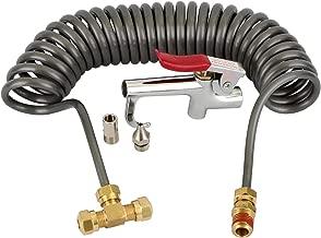 WYNNsky Heavy Duty Air Seat Blow Gun Kit for Truck, 1/4 Inch × 11.5 Feet PU Coil Air Hose, Lever Air Blow Gun with 2 Tips