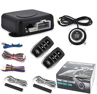 $58 » 12v Car Alarm Remote Control Passive Keyless Entry Engine Start Alarm System Push Button Remote Starter Stop Central Door ...