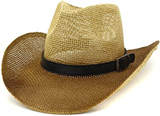 Sun Hat for men and women Men Women Outdoor Travel Cowboy Hat Sun Hat Visor Western Paint Cowgirl Straw Hat Thick Belt Sunbonnet