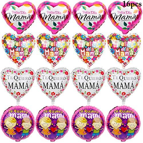 Outgeek 18 '' Foil Balloons Fiesta de la Novedad Mylar Globos para el Día del Padre o el Día de la Madre