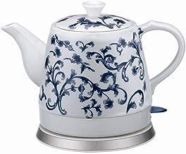 Elektrische keramische draadloze witte waterkoker theepot-retro 1,2 l kan,1000w water snel voor thee,koffie,soep,havermout...
