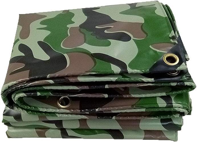MSF Baches Bache de Camouflage Tarps Heavy Duty Imperméable, Tente Spéléo Extérieure, en Plusieurs Tailles, 450g   m2 (Taille   4m×6m)