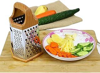 Trancheuse Mandoline coupe-légumes Veggie Dicer En Acier Inoxydable À Six Faces Râpe Multifonctions Légumes Cuisine Gingem...