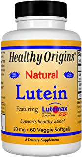 Healthy Origins Lutein Lutemax 2020 Supplement, 20 mg, 60 Count