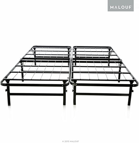 STRUCTURES Foldable Bed Base Platform Bed Frame And Box Spring In One Strong And Sturdy Support Quiet Noise Free Quick Easy Setup Twin XL