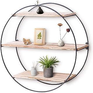 KingSo Wall Shelf Rustic Wood Floating Shelves,Decorative Wall Shelf for Bedroom, Living..