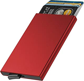 Dlife Credit Card Holder RFID Blocking Aluminum Business Card Holder Automatic Pop-up Card Case