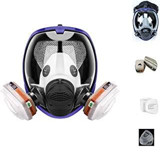 17in1 full face Cover Protective Respirator Rubber 360� Full Seal Protection (Respirator +Canister) Widely Used in Organic Gas