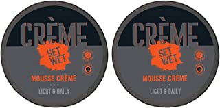 Set Wet Hair Mousse Crème with Argon Oil & Anti Dandruff formula, No Sulphate, No Alcohol, No Paraben, 60 g (Pack of 2)
