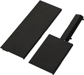 eJiasu wii console cover replacement, 3 in 1 Replacement Repair Parts Set Door Slot Lid Part Door Cover replacementfor Wii Console System (1 Black Set)
