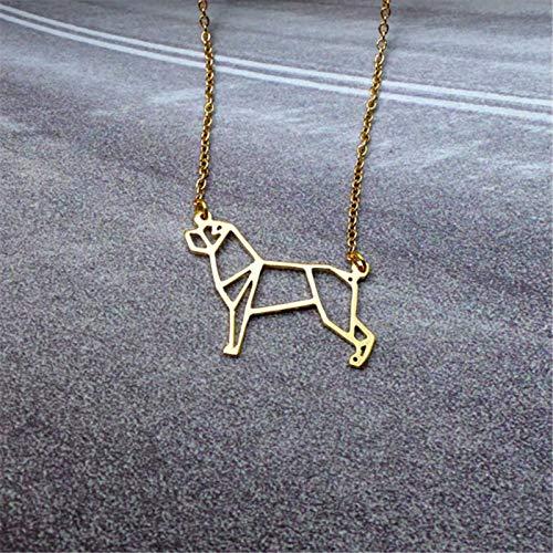 linda Mascota Origami Rottweiler Perro Colgante Gargantilla Collar Para Las Mujeres Niñas Delicado...