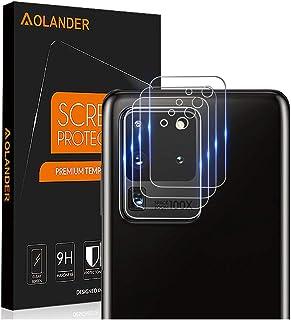 AOLANDER para Samsung Galaxy S20 Ultra Protector de Lente de cámara Cristal Vidrio Templado Protector de Pantalla 9H Dureza [Anti Arañazos] Protector [4 Pack]