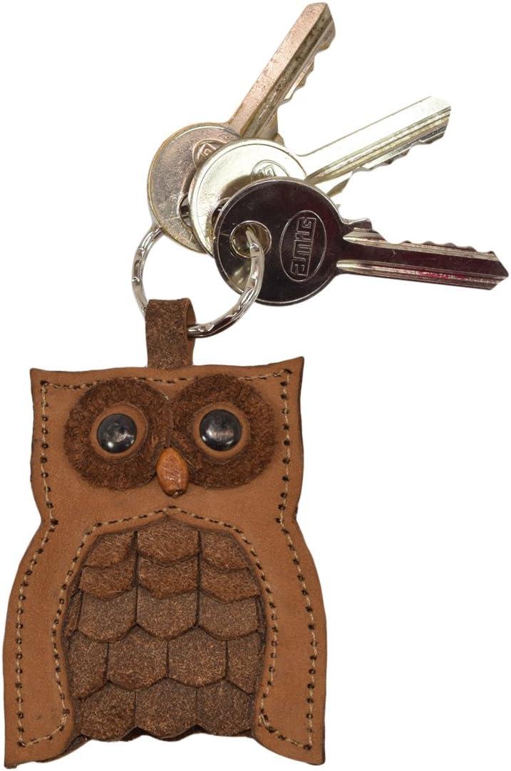 Over item handling ☆ Critter Keychain Rustic Leather Import Animal Ring Holder Key Handmade