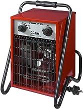 Euromac EK3301 Calentador de ventilador Negro, Rojo 3000 W - Calefactor (Calentador de ventilador, IP24, Negro, Rojo, Metal, 3000 W, 1500 W)