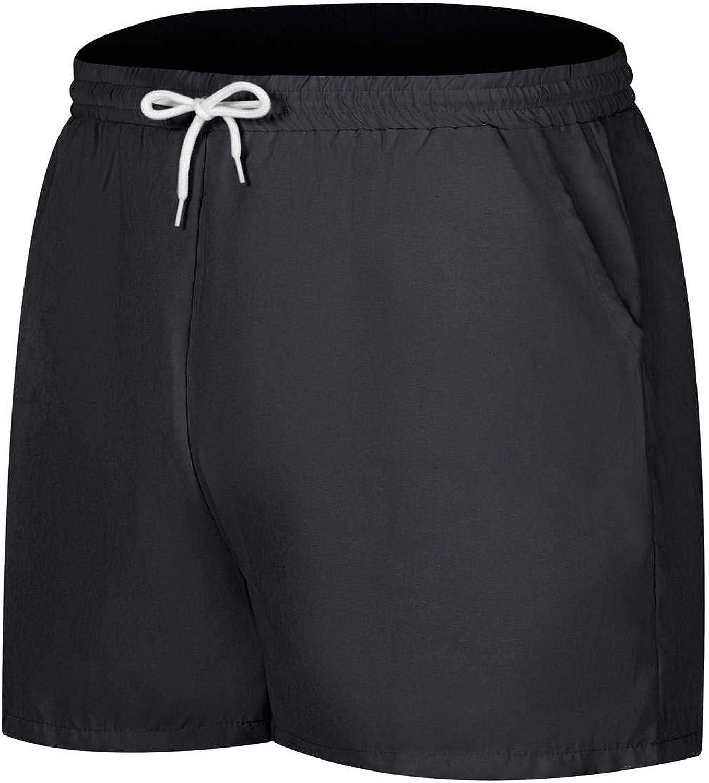Men's Swim Trunks Board Shorts Above Knee Regular Fit Summer Beach Casual Swim Short Swimwear Quick Dry Bathing Suits