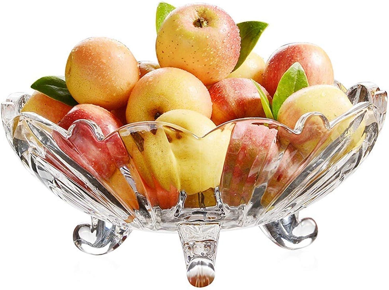KISlink Corbeilles à Fruits en Verre, décorations de Salon Cadeaux Maison Cadeaux Présentoir de Fruits Panier à Fruits Grande capacité créative