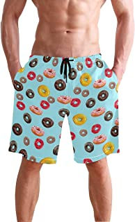Cute Red Chili Peppers Mens Swim Trunks Quick Dry Board Shorts with Pockets Summer Swimsuit Beach Short