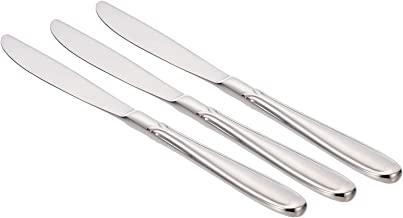 Winsor 18/10 Stainless Steel Table Knife Set of 3,Silver