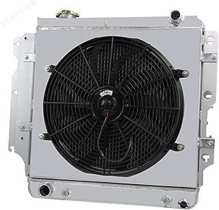 STAYCOO 55MM 3 Row Core Aluminum Radiator +Shroud +16