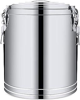 seau à lait en acier inoxydable Seau en acier inoxydable, isolant commercial Seau à soupe à soupe de grande capacité laita...