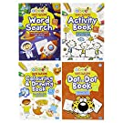 abeec Activity Books for Children - 4 A4 Books Containing: Word Search, Activity Book, Dot to Dot and Colouring Books for Children. Activity Pack for Children 3+