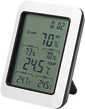 Jeanoko Termómetro higrómetro LCD con Pantalla Grande Medidor de Humedad y Temperatura para Laboratorio doméstico con Stent