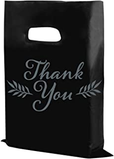 "Houseables Thank You Merchandise Bags, Retail Shopping Goodie Bag, Plastic, 16"" x 18"", 100 Pk, 1.75 Mil Thick, Low Density..."