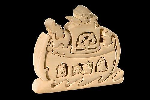 Dolfi Arche Noah 3D-Puzzle in Naturholz