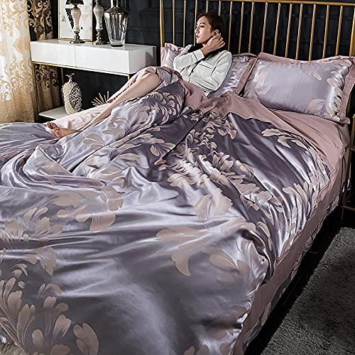 Funda De EdredóN Blanco,Lujo Barroco Europeo Oscuro Oro AlgodóN AlgodóN Cama Ropa De Cama Ropa De Cama Jacquard Reina Rey Cubierta De Cubierta De La Cubierta-L_200 * 230cm (79 '* 91') 4pcs