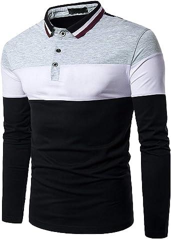 Camisa De Polo Camisa De Manga para Camisa Larga Hombre De ...