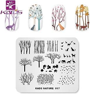 KADS Nail Stamping Plate Charming Fall Scenery Tree Defoliation Nature Template Image Design Plates for Nail Art Decoration and DIY Nail Art (NA017)
