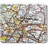 Alfombrilla rectangular para ratón, diseño de Frankfurt am Main Alemania, 23,5 x 19,6 cm, para ordenador y portátil, oficina, base antideslizante #45064