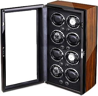 Avvolgitore automatico per orologio Motore estremamente silenzioso Cuscini per orologio regolabili Conchiglia in legno Ver...